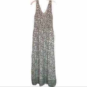 LUCKY BRAND Floral Vine Maxi Dress Size Small